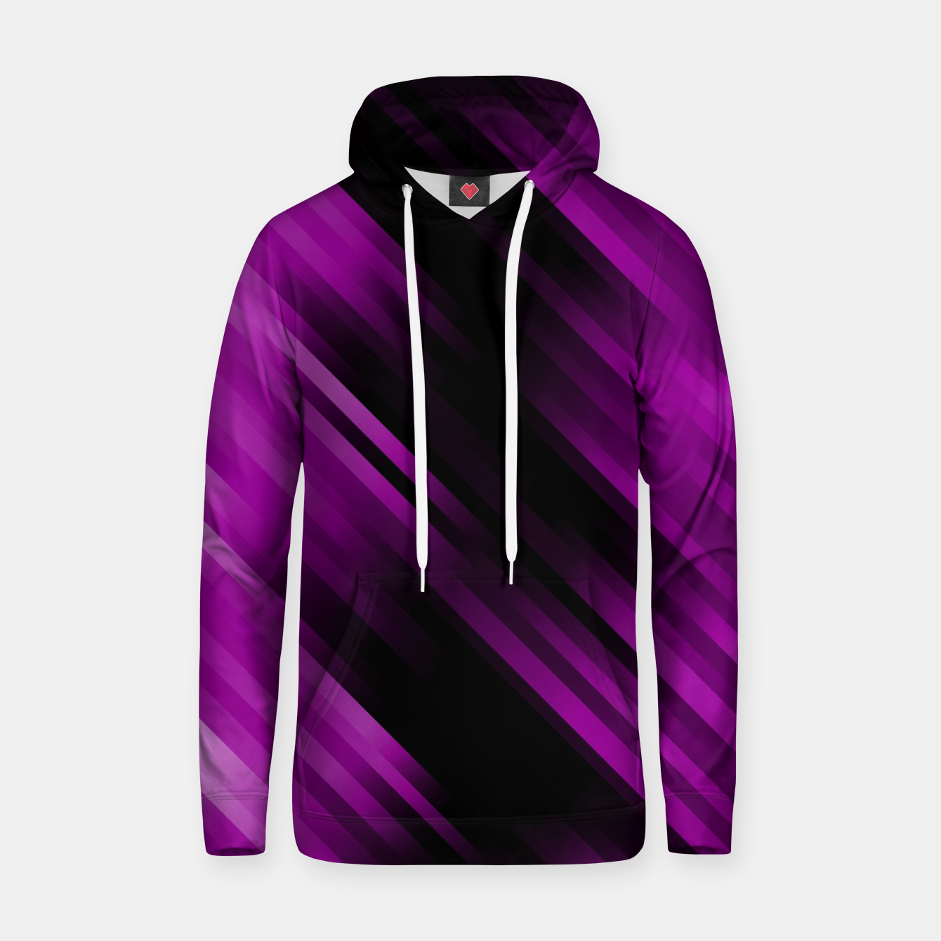 Image of stripes wave pattern 7v1 dei Hoodie - Live Heroes