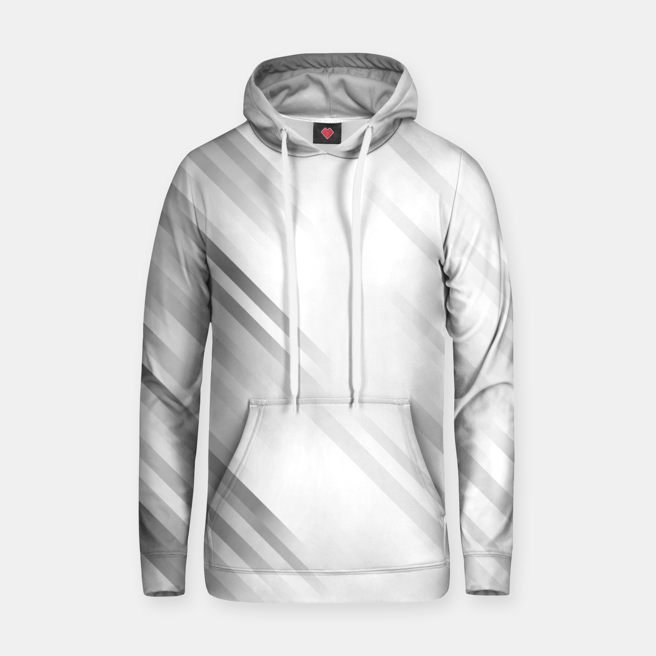 Image of stripes wave pattern 7v1 bw Hoodie - Live Heroes