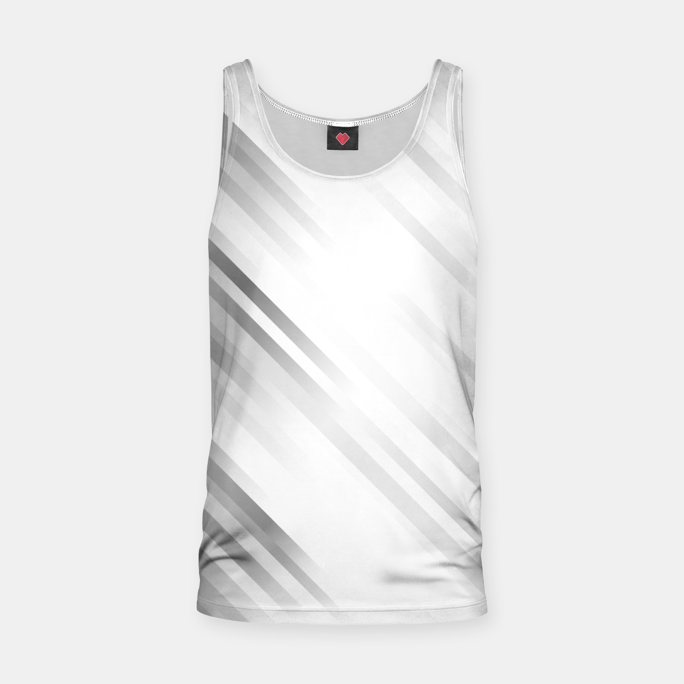 Image of stripes wave pattern 7v1 bw Tank Top - Live Heroes