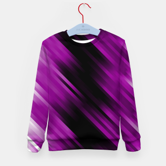 stripes wave pattern 7v1 dei Kid's sweater thumbnail image