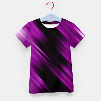 stripes wave pattern 7v1 dei Kid's t-shirt thumbnail image