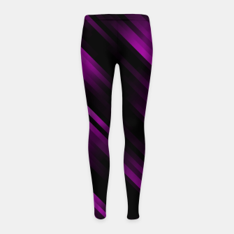 stripes wave pattern 7v1 dei Girl's leggings thumbnail image