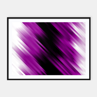 stripes wave pattern 7v1 dei Framed poster thumbnail image