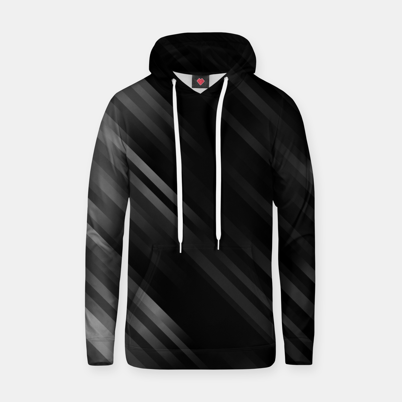 Image of stripes wave pattern 7v1 bwi Hoodie - Live Heroes