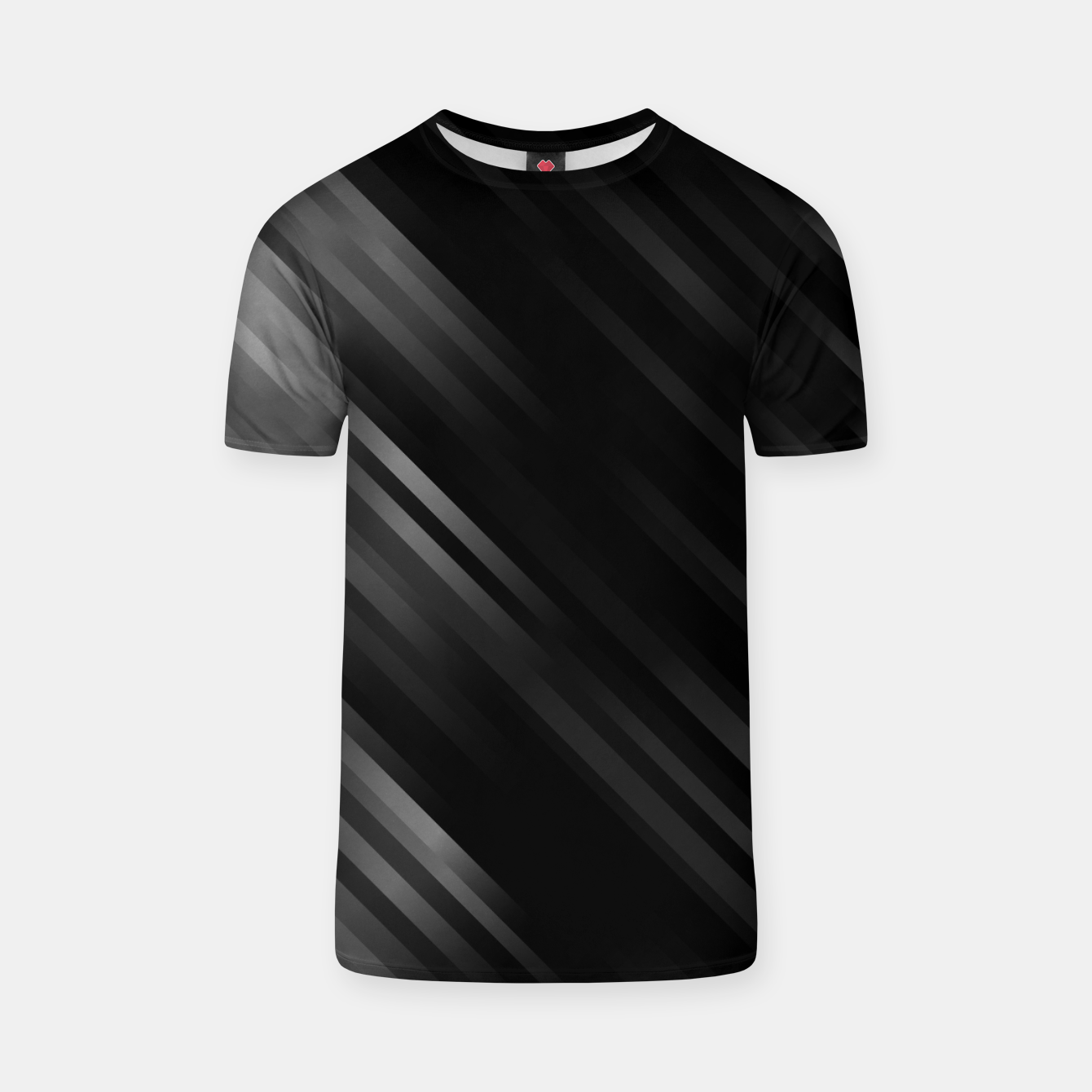 Image of stripes wave pattern 7v1 bwi T-shirt - Live Heroes