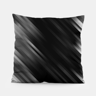 stripes wave pattern 7v1 bwi Pillow thumbnail image