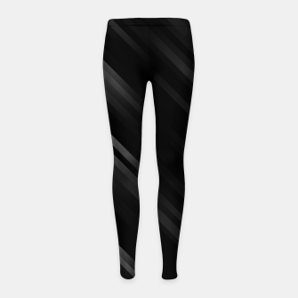 stripes wave pattern 7v1 bwi Girl's leggings thumbnail image