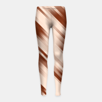 stripes wave pattern 7v1 co Girl's leggings thumbnail image