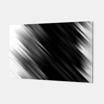stripes wave pattern 7v1 bwi Canvas thumbnail image