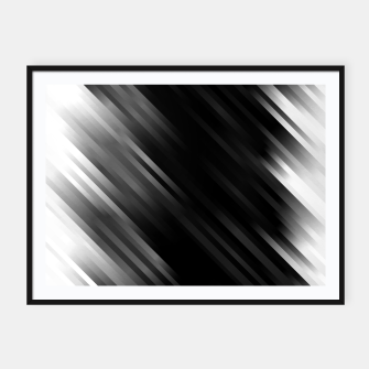 stripes wave pattern 7v1 bwi Framed poster thumbnail image