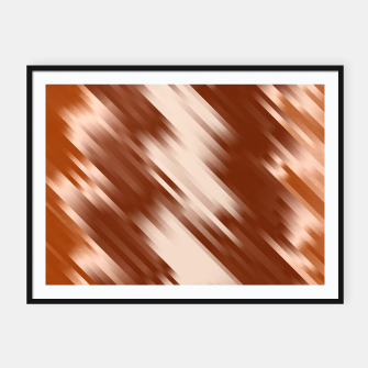 stripes wave pattern 7v1 co Framed poster thumbnail image