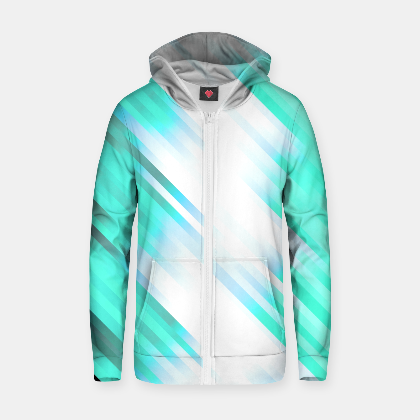 Image of stripes wave pattern 7v1 c82 Zip up hoodie - Live Heroes