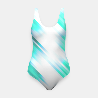stripes wave pattern 7v1 c82 Swimsuit thumbnail image