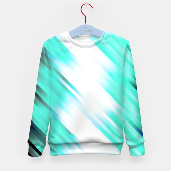 stripes wave pattern 7v1 c82 Kid's sweater thumbnail image