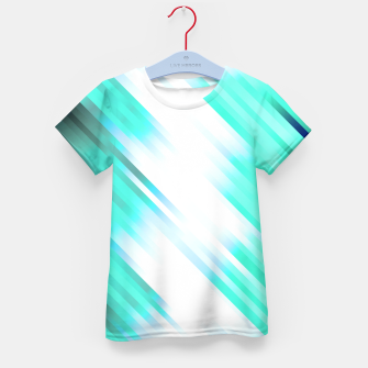 stripes wave pattern 7v1 c82 Kid's t-shirt thumbnail image