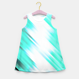 stripes wave pattern 7v1 c82 Girl's summer dress thumbnail image