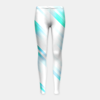stripes wave pattern 7v1 c82 Girl's leggings thumbnail image