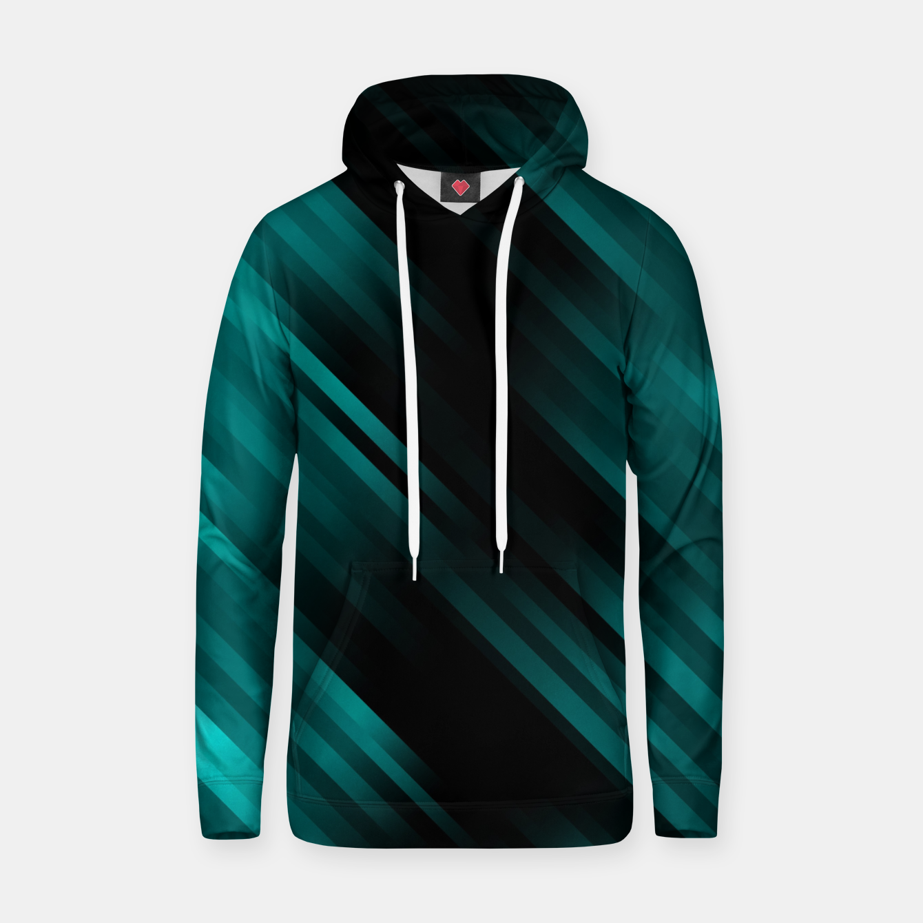 Image of stripes wave pattern 7v1 dri Hoodie - Live Heroes