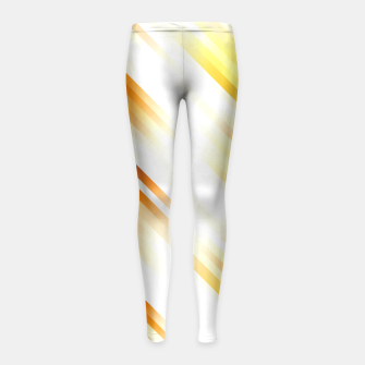 stripes wave pattern 7v1 ls Girl's leggings thumbnail image