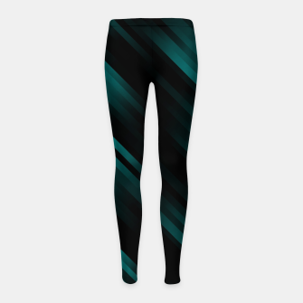stripes wave pattern 7v1 dri Girl's leggings thumbnail image