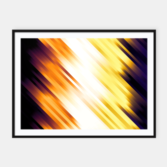 stripes wave pattern 7v1 ls Framed poster thumbnail image