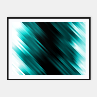 stripes wave pattern 7v1 dri Framed poster thumbnail image