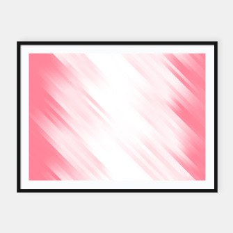 stripes wave pattern 7v1 pw Framed poster thumbnail image