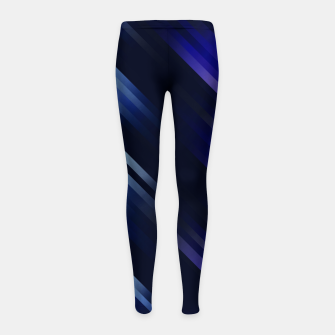 stripes wave pattern 7v1 fni Girl's leggings thumbnail image