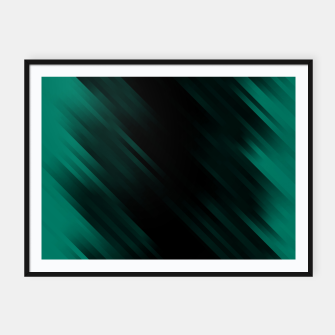 stripes wave pattern 7v1 pwi Framed poster thumbnail image