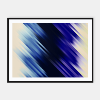 stripes wave pattern 7v1 fni Framed poster thumbnail image