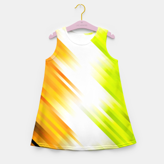 stripes wave pattern 7v1 std Girl's summer dress thumbnail image