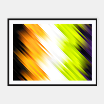 stripes wave pattern 7v1 std Framed poster thumbnail image