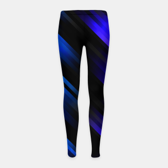 stripes wave pattern 7v1 stdi Girl's leggings thumbnail image