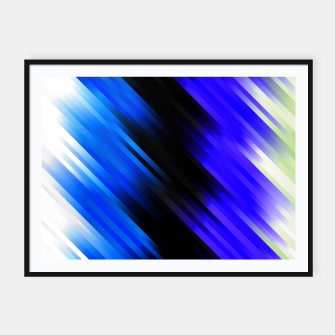 stripes wave pattern 7v1 stdi Framed poster thumbnail image