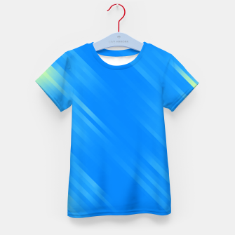 stripes wave pattern 7v1 voi Kid's t-shirt thumbnail image