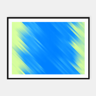 stripes wave pattern 7v1 voi Framed poster thumbnail image