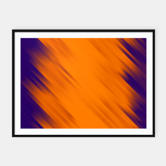 stripes wave pattern 7v1 vo Framed poster thumbnail image