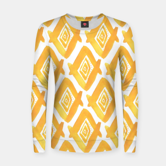 Miniature de image de Ethnic Yellow Pattern Women sweater, Live Heroes