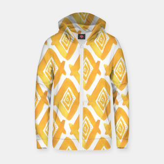 Miniature de image de Ethnic Yellow Pattern Zip up hoodie, Live Heroes
