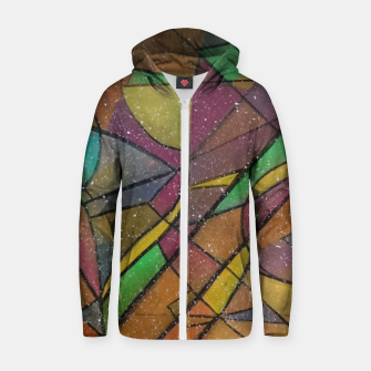 Thumbnail image of GEOMETRIC Zip up hoodie, Live Heroes