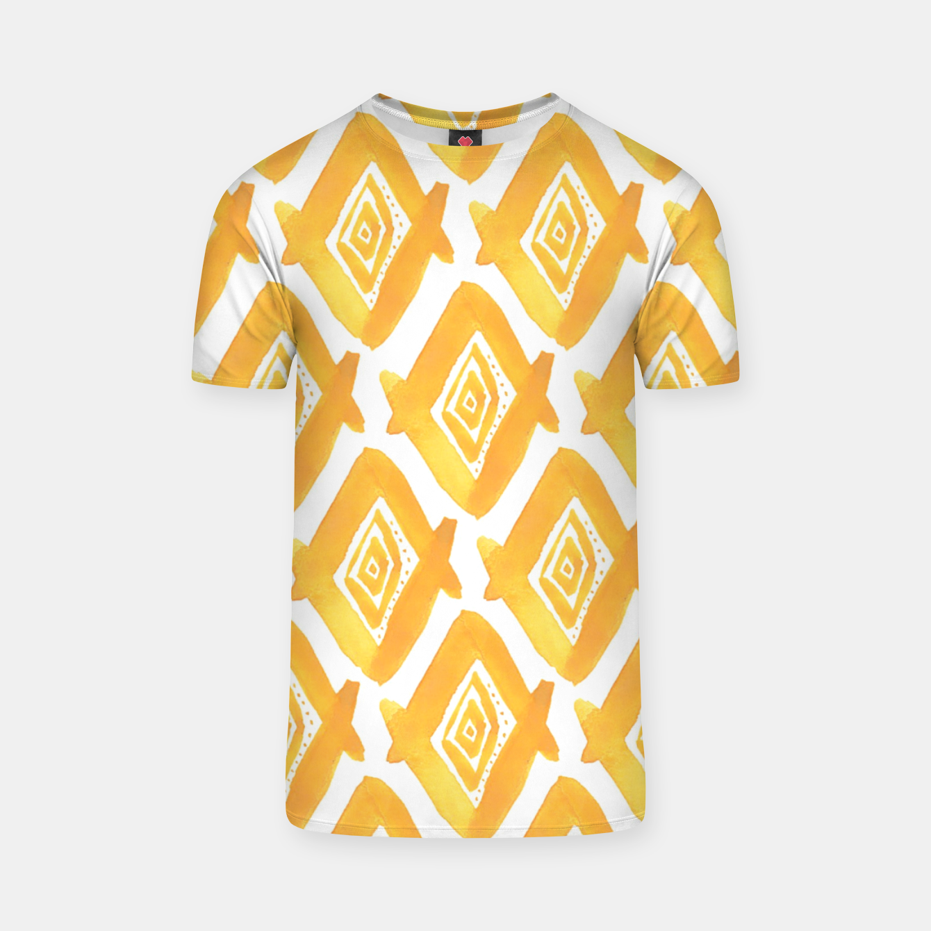 Image of Ethnic Yellow Pattern T-shirt - Live Heroes