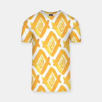 Miniature de image de Ethnic Yellow Pattern T-shirt, Live Heroes