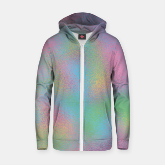 Miniaturka Faux Holographic Glass texture  Zip up hoodie, Live Heroes