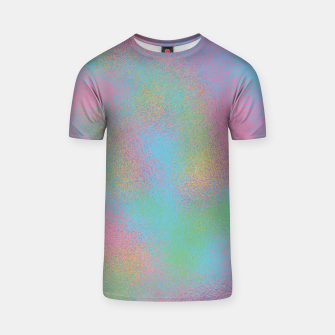 Thumbnail image of Faux Holographic Glass texture  T-shirt, Live Heroes
