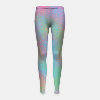 Thumbnail image of Faux Holographic Glass texture  Girl's leggings, Live Heroes