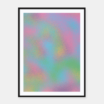 Thumbnail image of Faux Holographic Glass texture  Framed poster, Live Heroes