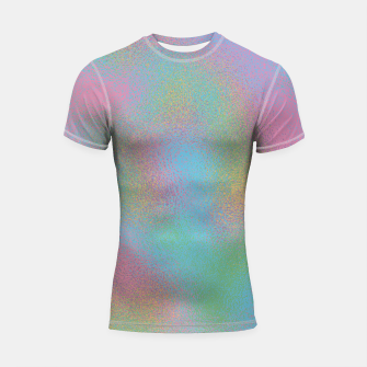 Thumbnail image of Faux Holographic Glass texture  Shortsleeve rashguard, Live Heroes