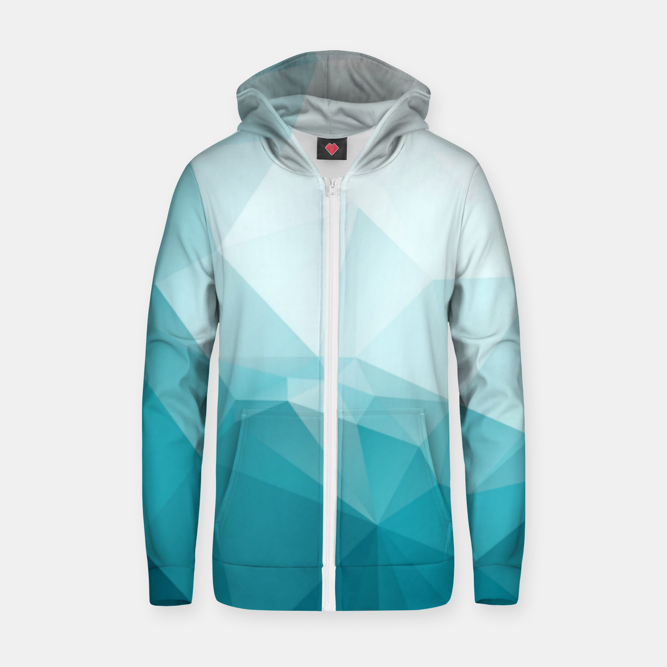 Image of MISTY WORLDS Zip up hoodie - Live Heroes