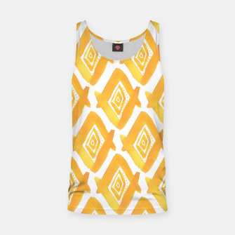 Miniaturka Ethnic Yellow Pattern Tank Top, Live Heroes