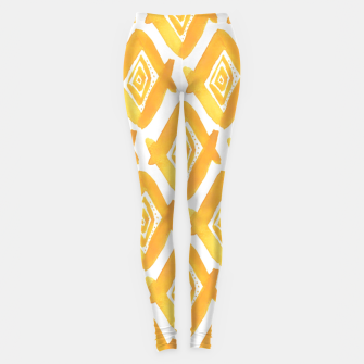 Miniaturka Ethnic Yellow Pattern Leggings, Live Heroes